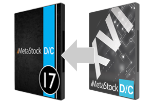 Upgrade to MetaStock DC 17 from DC 16